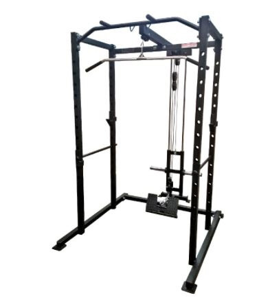 Power Body Compact Power Rack w/ Plate Load Hi/Low Pulley