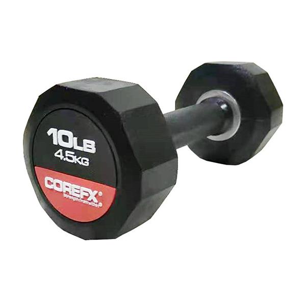 COREFX 12-sided Rubber Dumbbell Set, 5 - 60 LB
