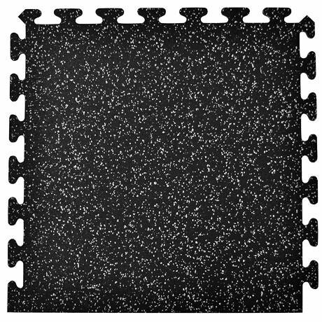 "Interlocking Rubber Tile, 2'x2'x3/8"", Border"