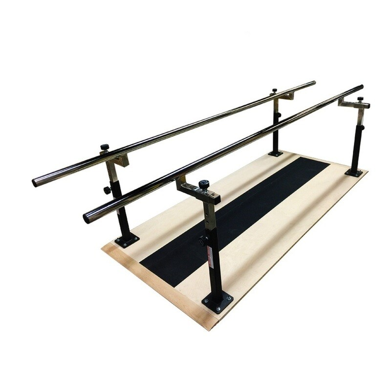 Power Body Adjustable Parallel Bars with Plywood Platform, 10ft