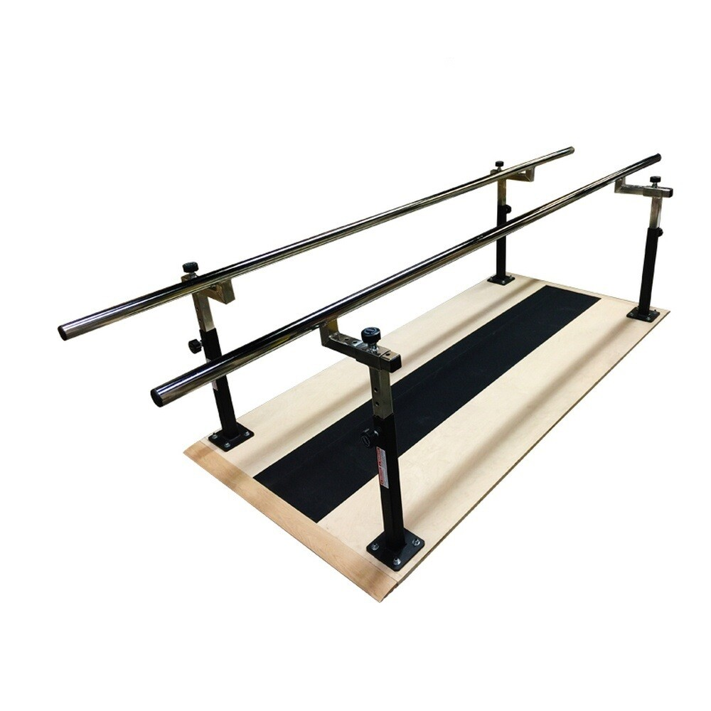Power Body Adjustable Parallel Bars with Plywood Platform, 8ft