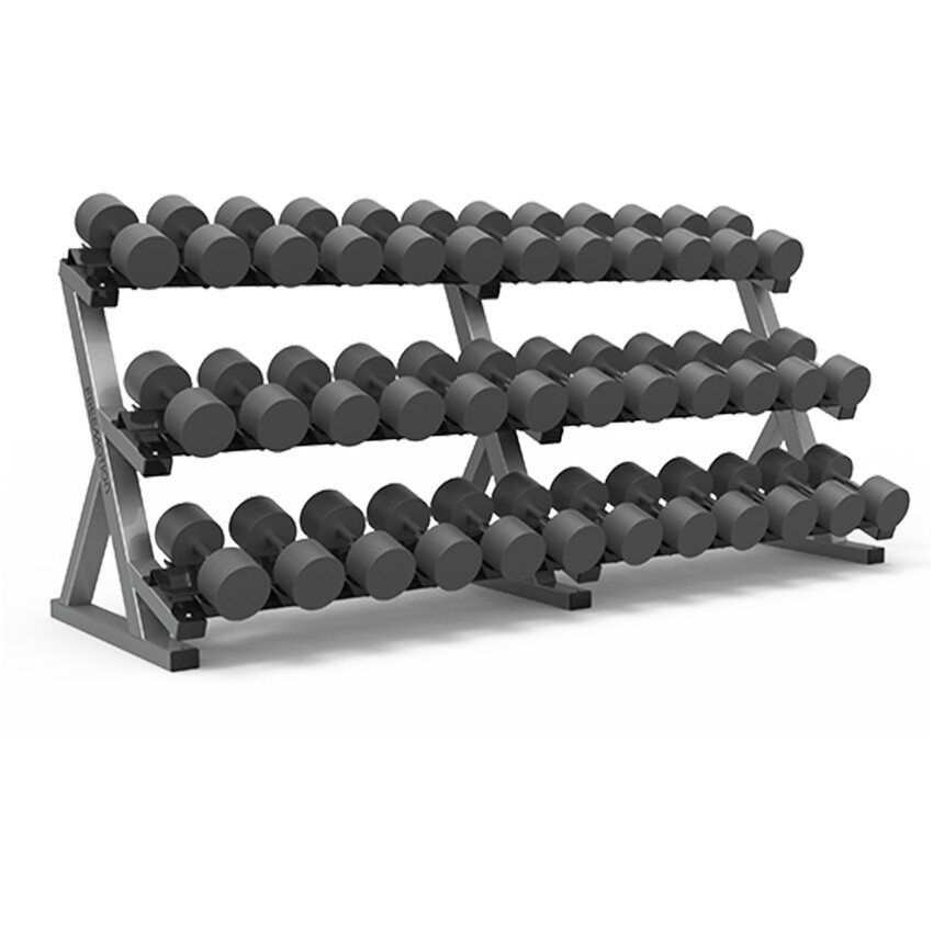 Freemotion EPIC 3 Tier Dumbbell Rack (Saddle)
