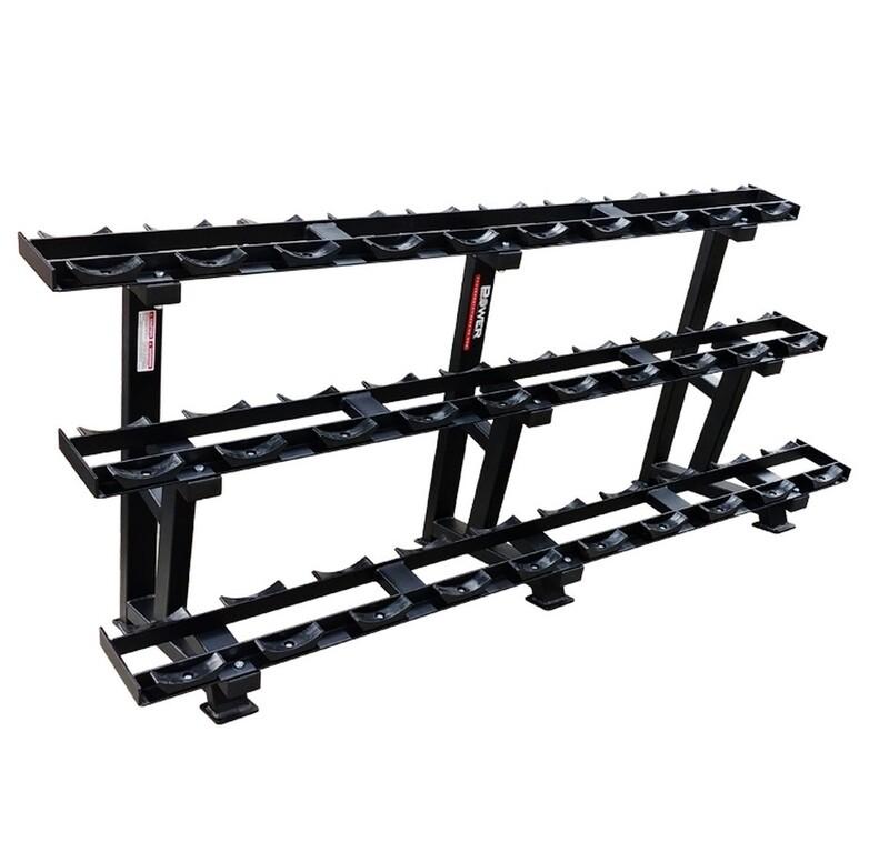 Power Body 3-Tier Dumbbell Rack (Saddle)