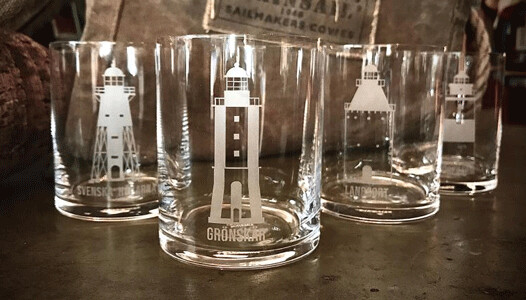 Whiskyglas Svenska Fyrplatser 2-pack