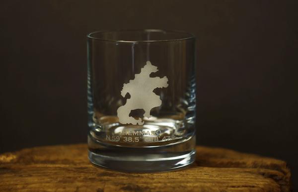 Whiskyglas med Hemmarösilluetten 6-pack