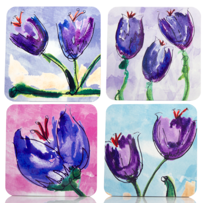 English Saffron Coasters