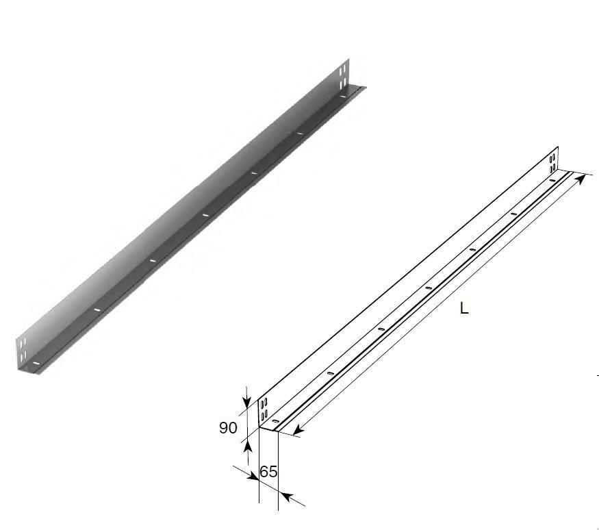 Стойка угловая облегченная (п/м)23691B/M