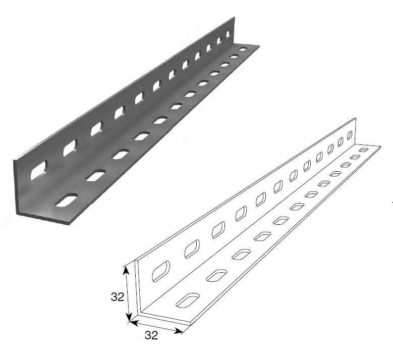 Установочный профиль 32х32х2 мм, 24601/М