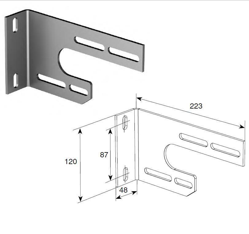 Универсальный внутренний опорный кронштейн (шт.), 13025