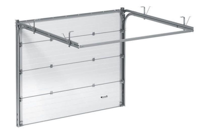Ворота секционные серии RSD01SС №7 ширина 3000 высота 2015 доска, белые