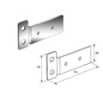 Пластина крепления ригеля Compact (пара)