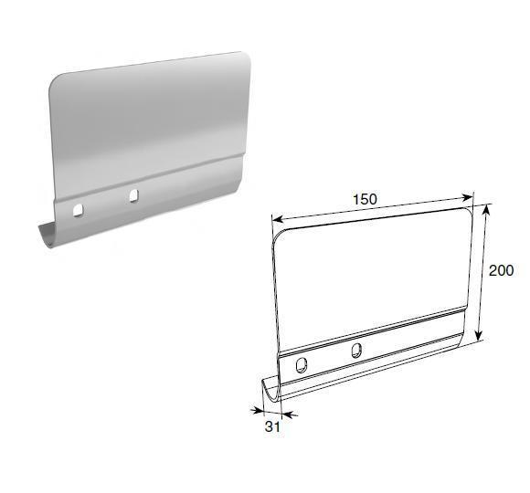 Соединительная пластина 200мм для вертикальных направляющих ( левая, правая)/шт, SPV-PT12R