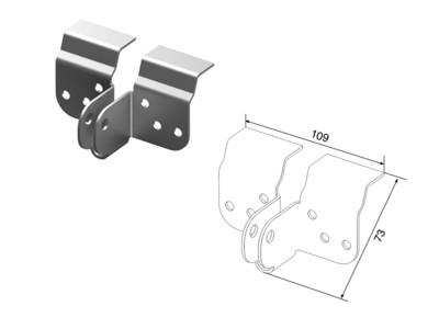 Кронштейн крепления привода к верхней панели с профилем