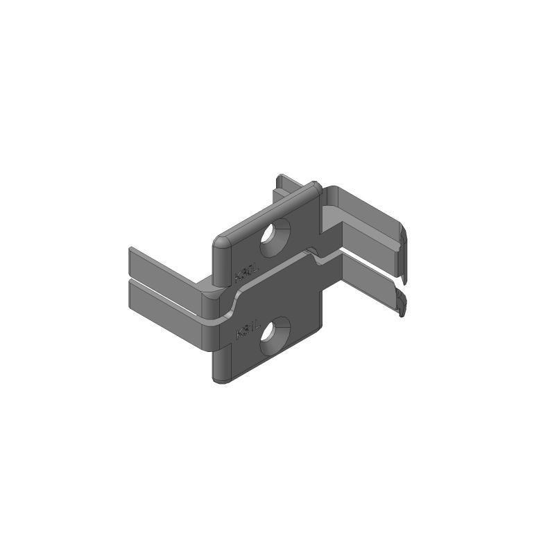 Заглушки алюминиевых Ц-профилей створки калиток секционных ворот (Петли слева, права)