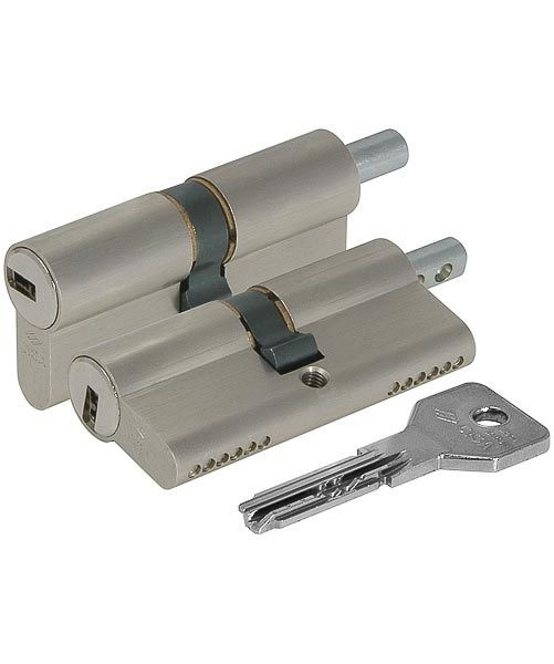 Цилиндровый механизм Cisa (Чиза) под вертушку ASIX OE302-43.12 (100 мм/40+10+50), НИКЕЛЬ