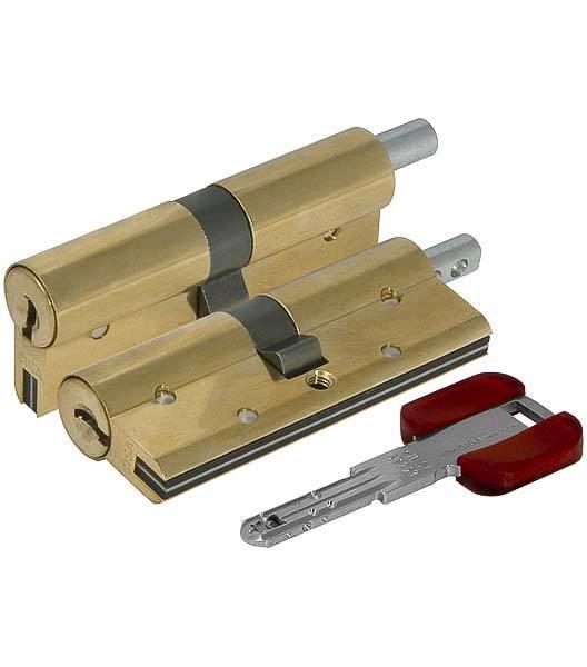 Цилиндровый механизм п/вертушку Cisa (Чиза) RS3 OL3S1-29.66 (90 мм/40+10+40, ЛАТУНЬ)