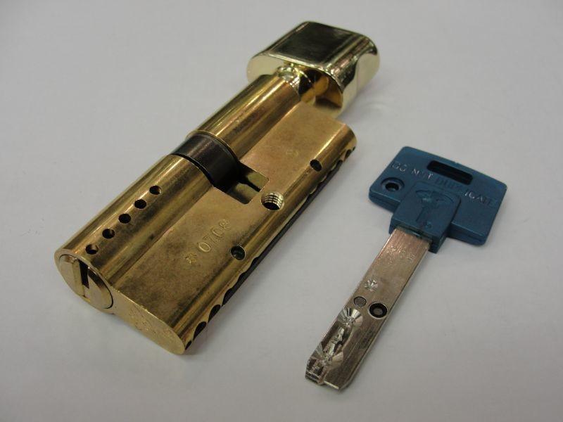 Цилиндр INTER L120 ТФИ усилен.латунь (50Тх70) Мультилок