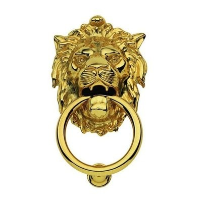 Дверное кольцо 2152 Лев Mr латунь MARTINELLI