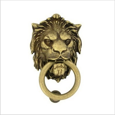 Дверное кольцо 2152 Лев Mr ант.латуньMARTINELLI