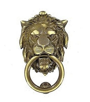 Дверное кольцо 2152 Лев Mr бронза сатинированная MARTINELLI