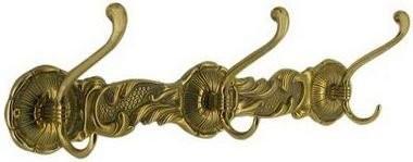Вешалка БАРОККО, 3 двойных крючка, размер 10х40 см, арт.00102, STILARS