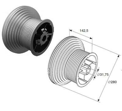 Барабан  H=4100 мм  для вала 1,25