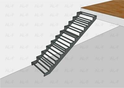 Каркас лестницы прямой одномаршевый