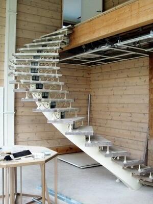 Каркас лестницы индивидуальный
