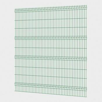 Забор 3D, сетчатый забор, Секция ОПТИМА из прутка 4 мм, 2535x2430 с ячейкой 55х200