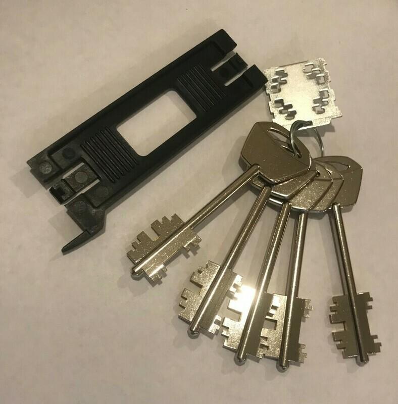 SIM плата + 5 ключей для замка MATRIX DCC5 90mm