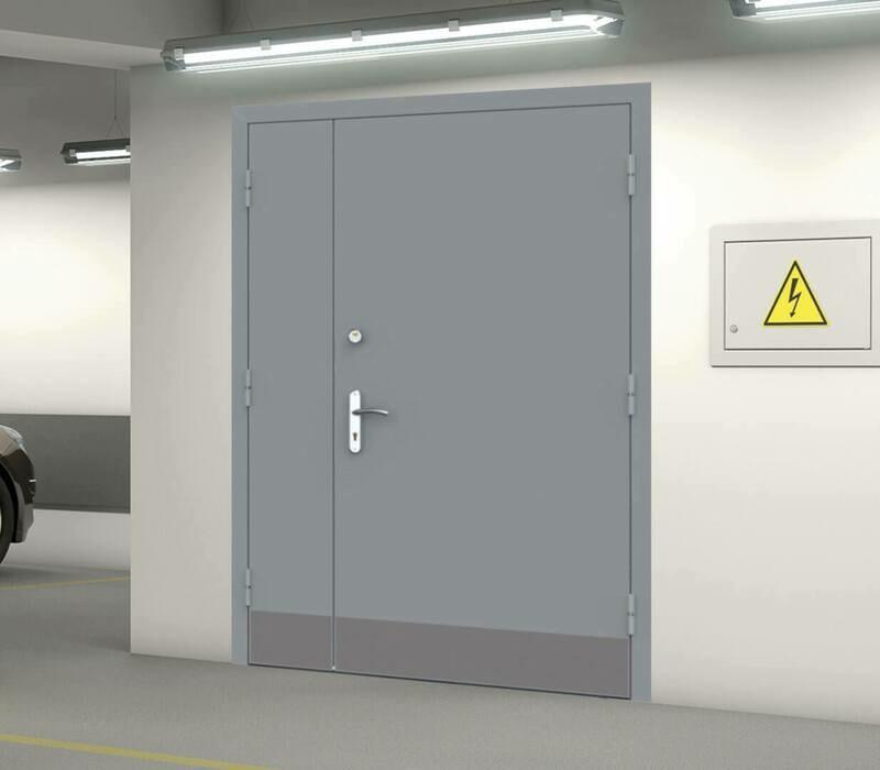 Двери технические двустворчатые
