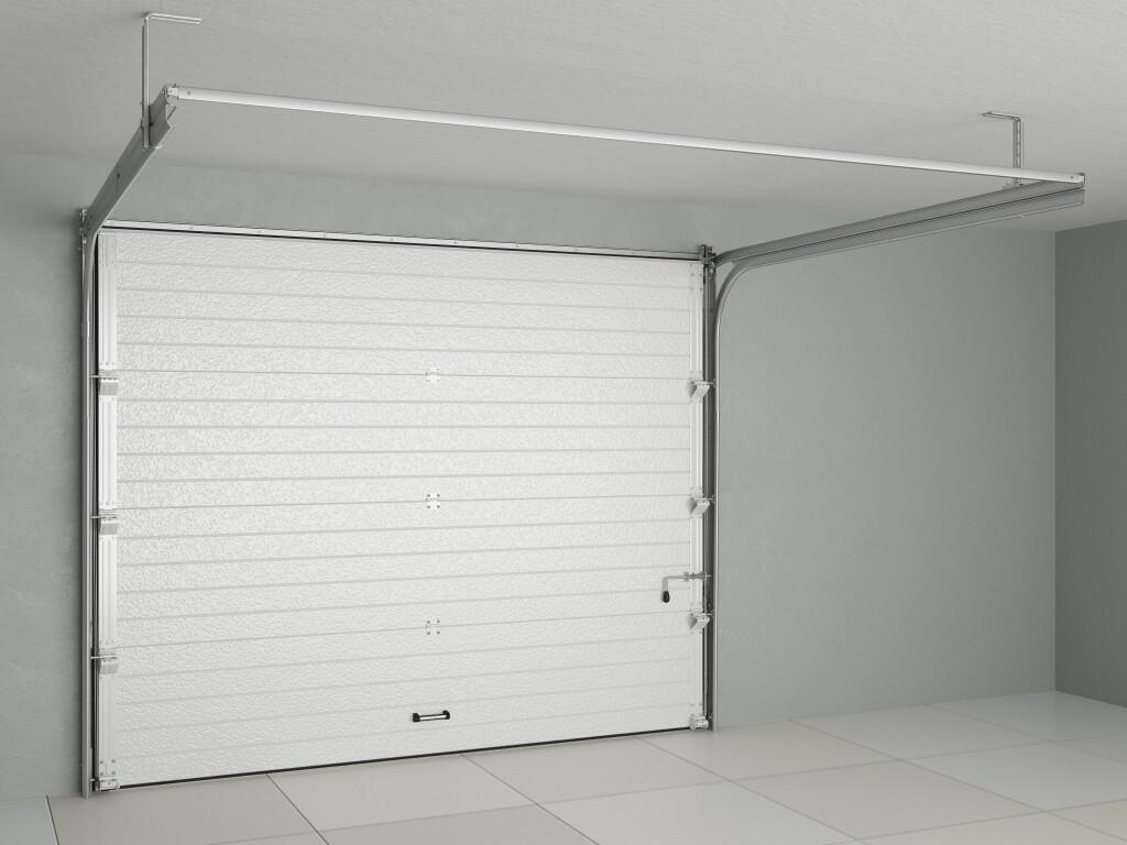 Ворота Doorhan RSD01 из стальных сэндвич-панелей с пружинами растяжения