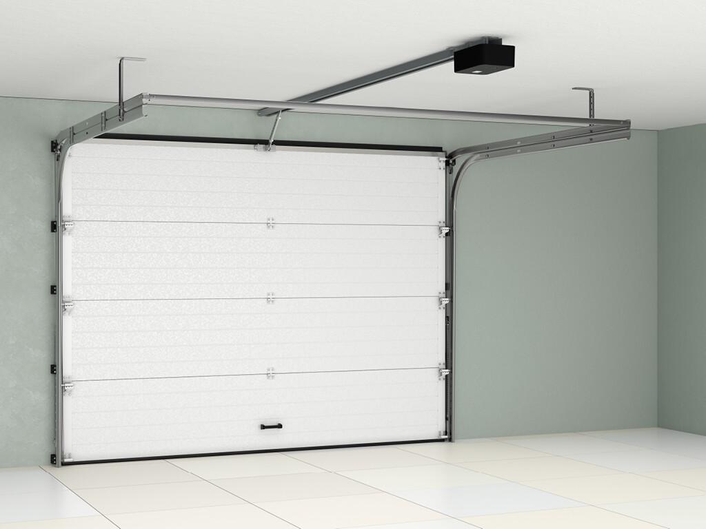 Ворота Doorhan RSD01 из алюминиевых сэндвич-панелей с пружинами растяжения