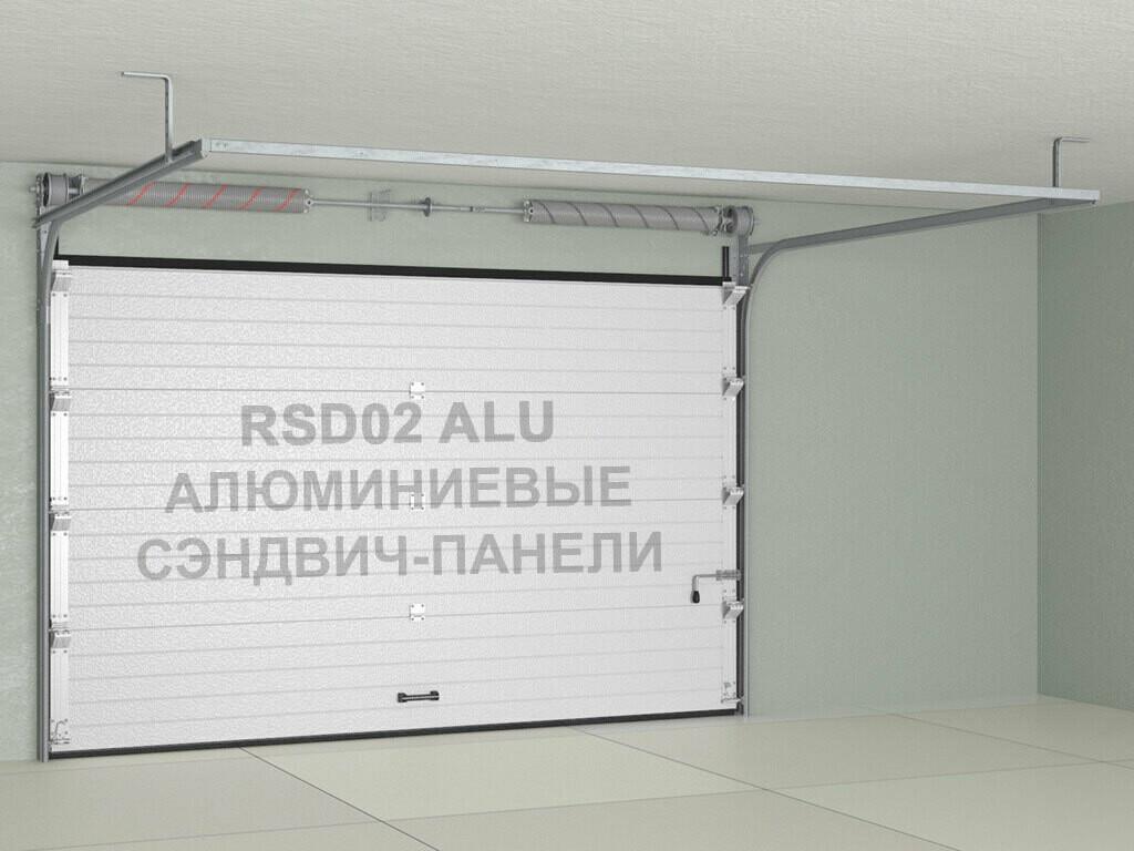 Ворота Doorhan RSD02ALU из алюминиевых сэндвич-панелей с торсионным механизмом