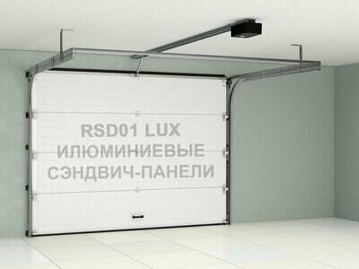Ворота Doorhan RSD01LUX из алюминиевых сэндвич-панелей с пружинами растяжения
