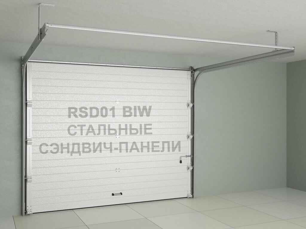 Ворота Doorhan RSD01BIW из стальных сэндвич-панелей с пружинами растяжения