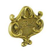 Декоративная табличка латунь и бронза