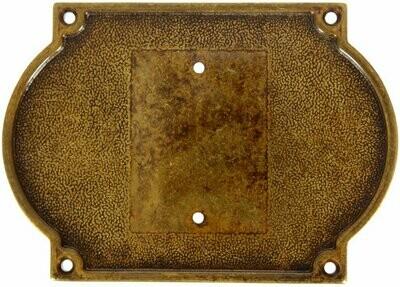 База на один номер размер 120х170 ант.бронза 131410