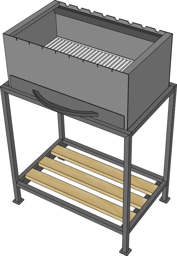 Мангал барбекю AL-F МL550-A1 с подставкой