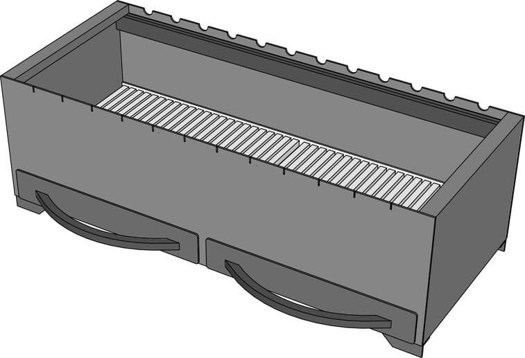 Мангал барбекю AL-F МL800 с зольником