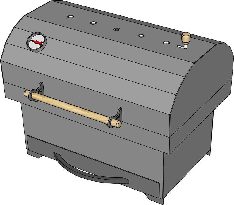 Мангал гриль AL-F МL550-L с зольником