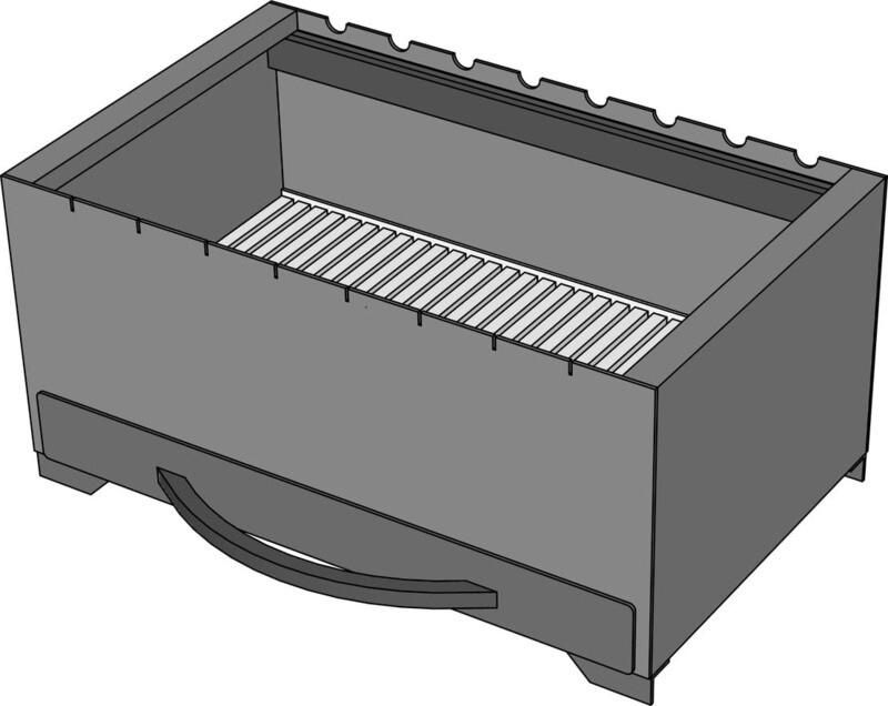 Мангал барбекю AL-F МL550 с зольником
