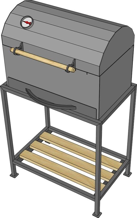 Мангал гриль AL-F МL550-К + подставка