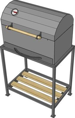 Мангал гриль AL-F МL550-К-A1 с подставкой