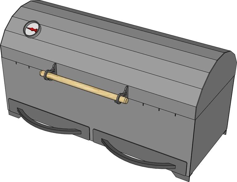 Мангал гриль AL-F МL800-K с зольником