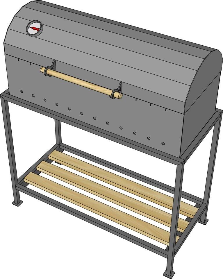Мангал гриль AL-F М800-К + подставка