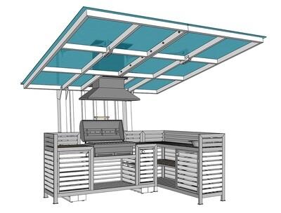Мангал с крышей — комплекс AL-F COSMO