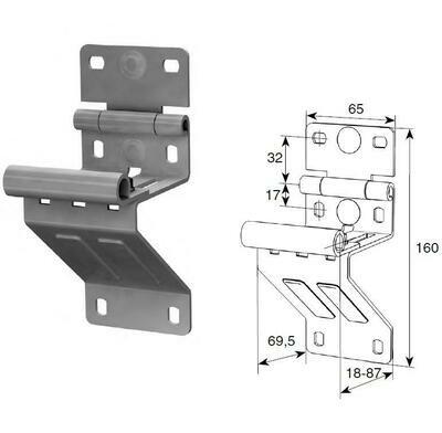 Боковая опора укороченная для панелей с новой формой профиля N25234H/RAL9003