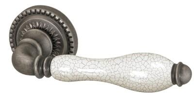 Ручка раздельная Armadillo (Армадилло) Silvia CL1 AS/СRP-109 Античное серебро/кракелюр