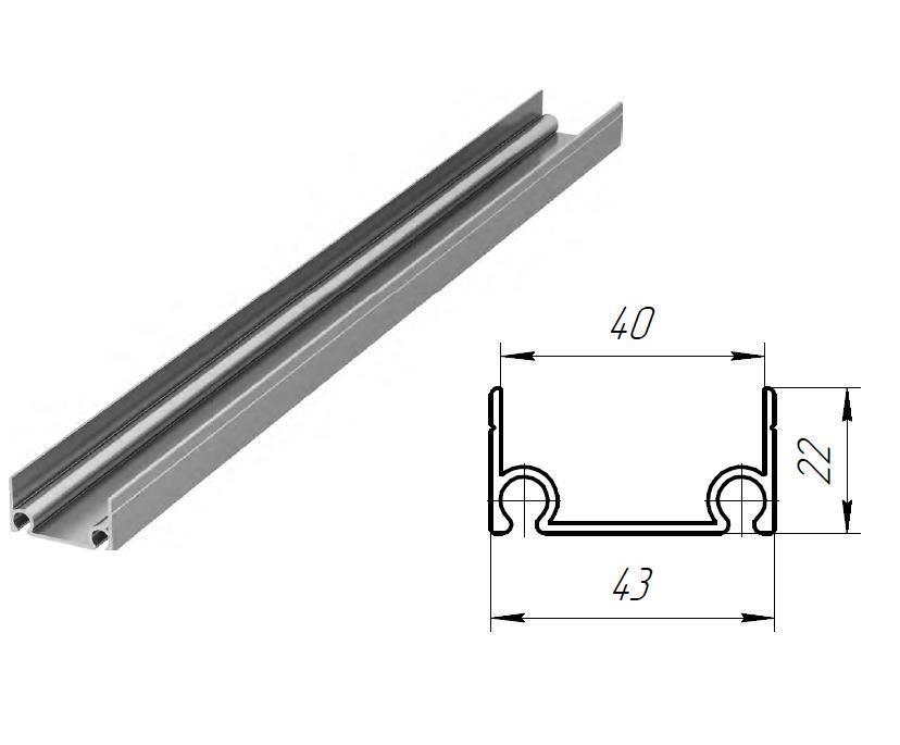 Облегченный верхний и нижний алюминиевый профиль, DHSK-20210/M